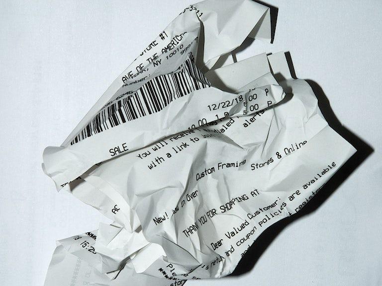 D.I.Y receipts image