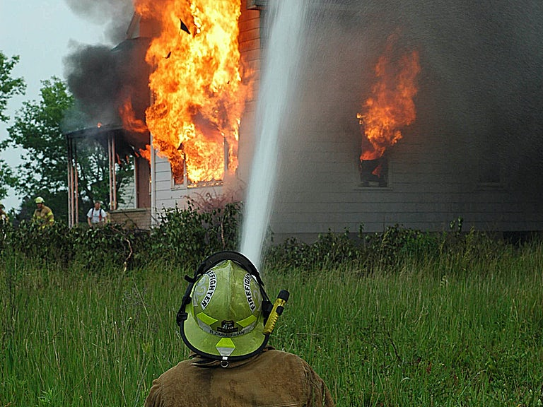Previous declined claim, no cover for fire image