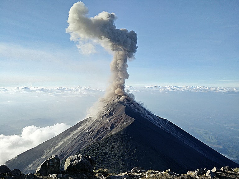 Mountain eruption not unexpected image