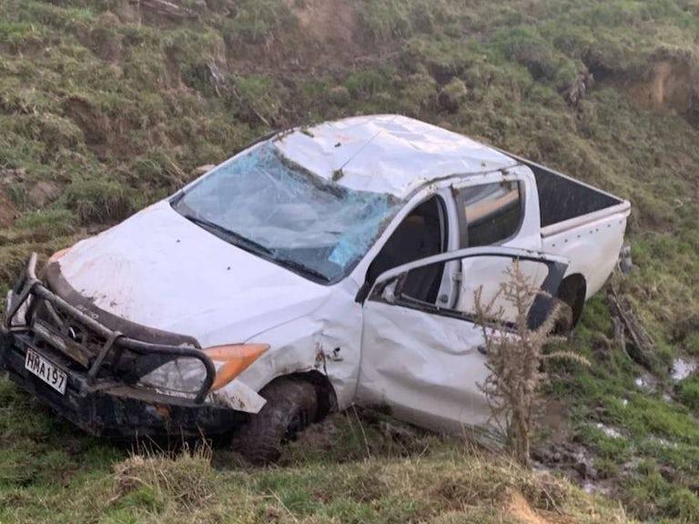 Son crashes car, no cover image